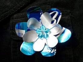 Soda Can Spring Flower Brooch